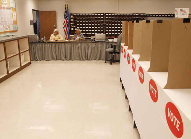 Absentee voting officials in Oklahoma